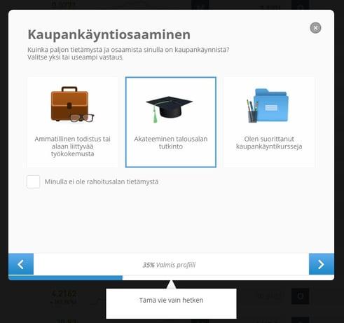 Sijoittaja.fi eToro Kaupankäynti tietämys
