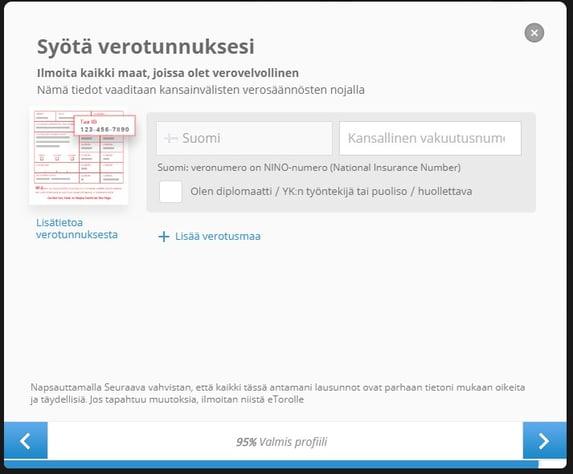 Sijoittaja.fi eToro syötä verotunnuksesi