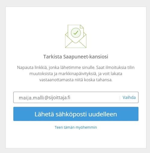 Sijoittaja.fi eToro vahvistus sähköposti
